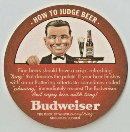 12 Budweiser How To Judge  Beer Coasters 3 sets of 4