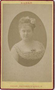 Attrice Théâtre Opera CDV Foto Nadar Vintage Albumina