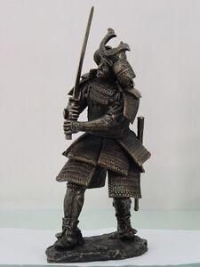 SAMURAI-WARRIOR-FIGURINE-SWORD-INFANTRY-BUSHI-ARMOR-STATUE