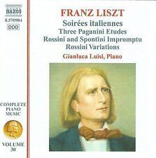 Franz Liszt: Soirées italiennes; Three Paganini Etudes; Rossini and Spontini Imp