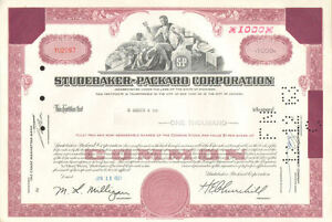 Studebaker-Packard-Corporation-old-automobile-car-stock-certificate-1-000-shares