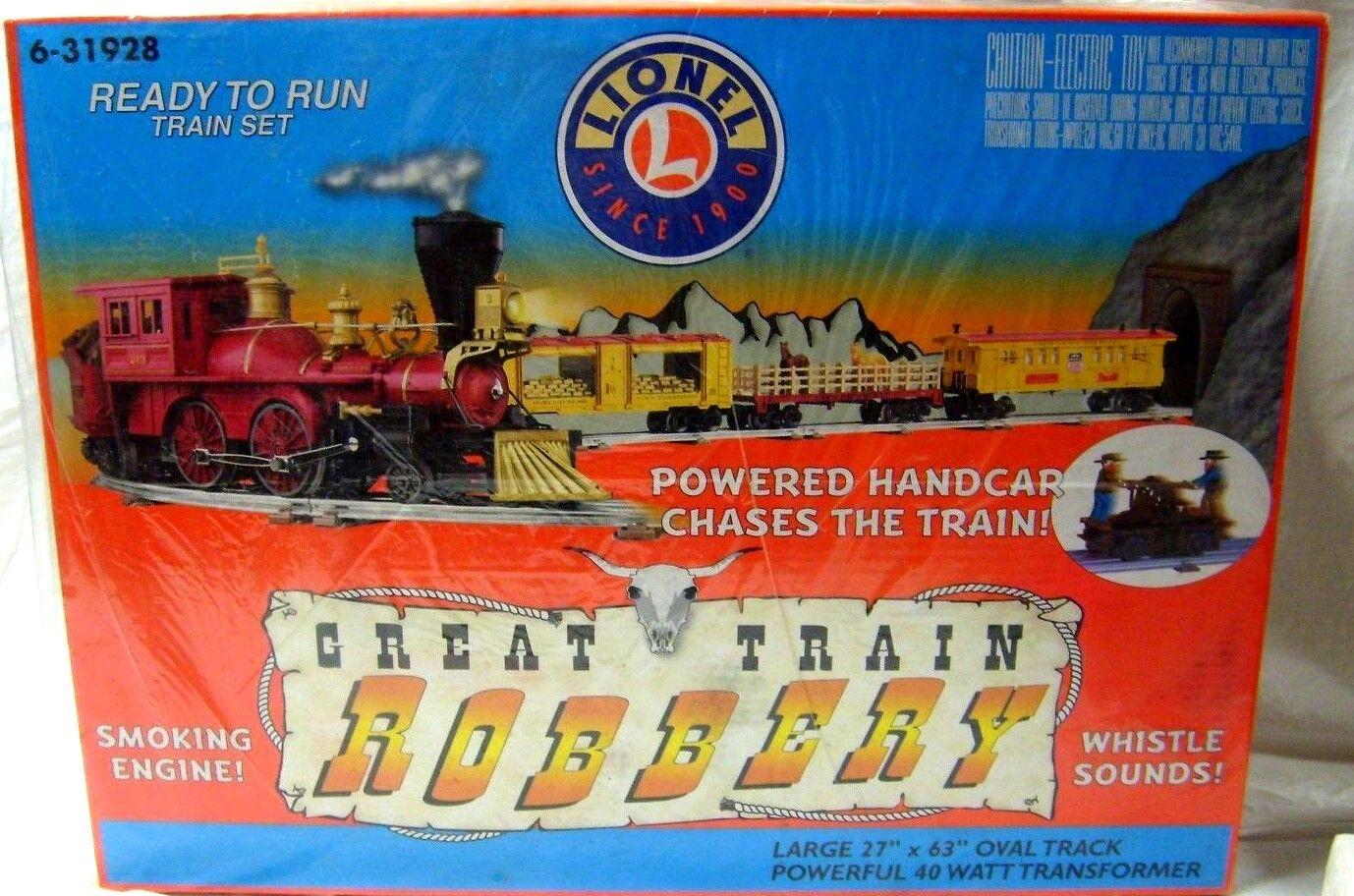LIONEL 6-31928 GREAT TRAIN ROBBERY SET W  HAND CAR CAR CAR & SOUND 4883ca