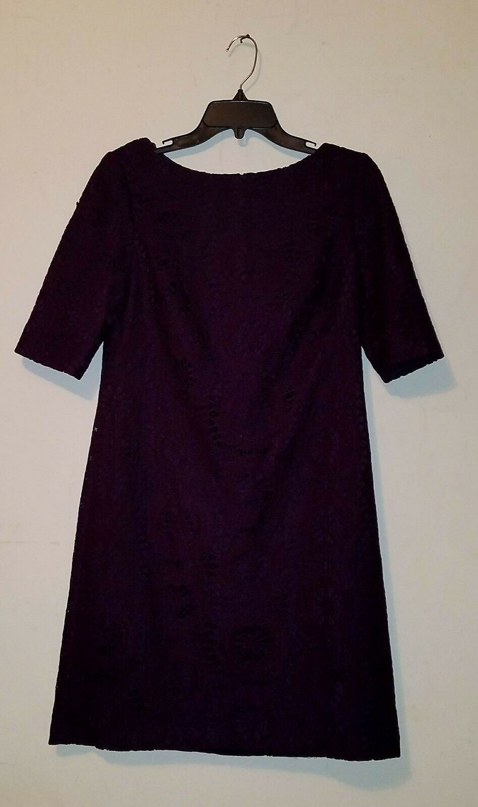12e780b59a4 NWOT Adrianna Papell Patterned Perforated Dress Purple 8 Women sz ...