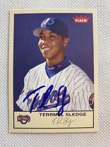 2005 Fleer Terrmel Sledge #177 Auto Signed Autograph Expos