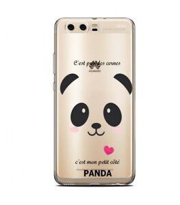 Détails sur Coque Huawei Y5 2018 panda coeur rose cute kawaii transparente