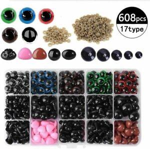 608pcs-Safety-Eyes-Noses-washers-Doll-Plush-Toy-Teddy-Bear-Crafts-DIY-Plastic