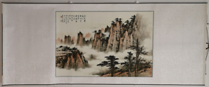 Excellent-Chinese-Waterfull-Landscape-Scroll-Paintings-By-Huang-Junbi-QAZ38