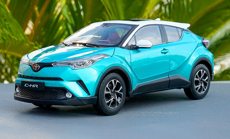 1 18 Toyota C-hr chr Modelo Coloree blu + Regalo