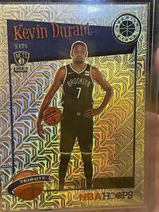 2019-20 Panini NBA Hoops Kevin Durant Premium Stock Tribute Silver Mojo #284