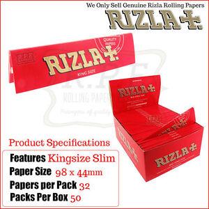 Rizla-Rot-Kingsize-schlanke-Zigarette-Roll-Papiere-50-Pakete