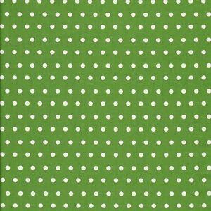 Stoff-Baumwolle-Leona-beschichtet-Wachstuch-kiwi-weisse-Punkte-6mm