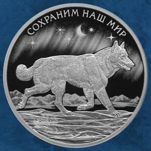 Russland-Tundra-Wolf-3-Rubel-2020-PP-Silber-1-Unze-1-oz-Silver