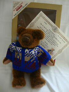 "Dolls & Bears Tireless Bialosky Treasury Limited Edition Chester 10"" Teddy Bear Vintage 1995 Coa Mint"