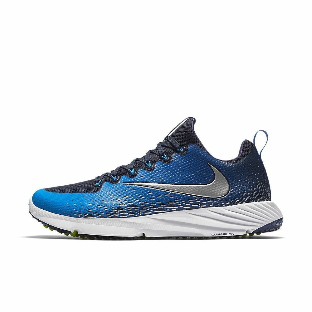 Nike Vapor Speed Turf Football Trainer bluee Black White 833408-404 Mens Size 12