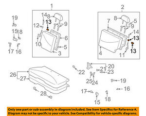 Front Genuine Hyundai 88380-21100-CGR Seat Back Covering Assembly Right