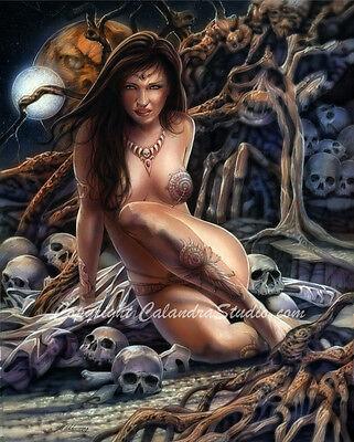Calandra Fantasy Art Signed 11x14 Print! Rhiannon