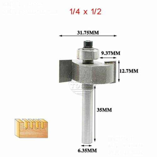 """3//32/"""" to 5//8/"""" T-type Tenon Cutter Groove Router Bit 1//4/"""" or 1//2/"""" Shank Select"""