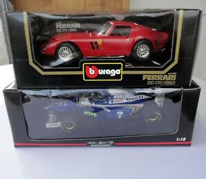 2-Mint-Box-1-18-McLaren-Pauls-Model-Art-Hakkinen-Renault-Burago-Ferrari-250-GTO