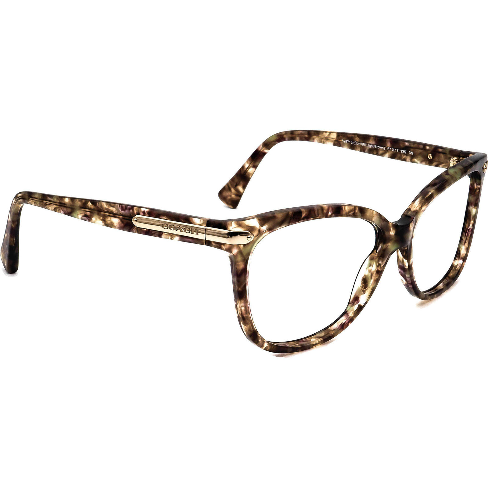 Coach Sunglasses Frame Only HC 8132 (L109) 528713 Confetti Light Brown 57 mm