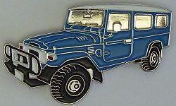 Blue Toyota Land Cruiser FJ78-HJ78 LBW Troop Carrier  hat pin badge  C041207