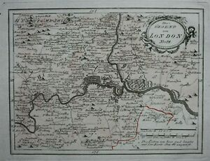 Original-antique-map-LONDON-039-Die-Gegend-um-London-039-Von-Reilly-c-1790