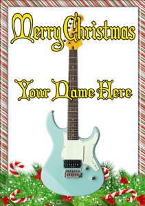 Strat style guitar ptcc45 xmas christmas card a5 personalised image is loading strat style guitar ptcc45 xmas christmas card a5 m4hsunfo