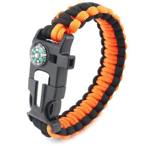 Survival Bracelet  first aid life rope multi-function bracelet compass bracelet