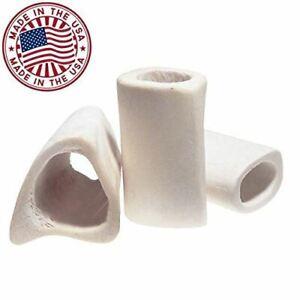 "White Dog Bones (10 Pack) - [3"" Long] Natural Bulk Femur Beef Dog Dental Treats"