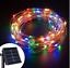 100-200-500-LED-Solar-Draht-Lichterkette-Lichtschlauch-Aussen-Garten-Solarlampe