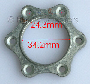RIGHT-SIDE-BRAKE-DISC-ROTOR-ADAPTER-FOR-POCKET-BIKE-GAS-SCOOTER-APC-CHOPPERS