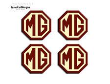 MG ZT LE500 Alloy Wheel Centre Caps Badges OEM Styled Burgundy & Cream (45mm)