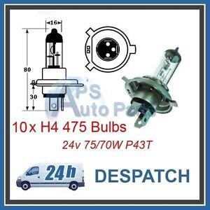 Box of 10 H4 12V 55W Headlight Bulbs 472 Bulb