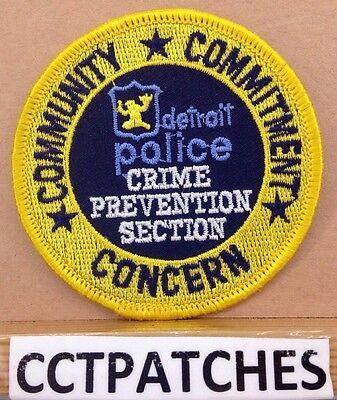 DETROIT MICHIGAN POLICE SHOULDER PATCH
