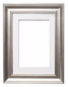 Shabby-Chic-Picture-frame-SC-Photo-Frame-Poster-Frame-with-Bespoke-Mount-SILVER