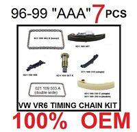 Vw Jetta Passat Vr6 2.8 V6 Aaa Engine Timing Chain Kit 7 Pcs Double Chain