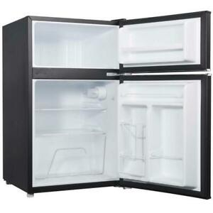 Mini Fridge Freezer Black Refrigerator Cooler Compact Small Office