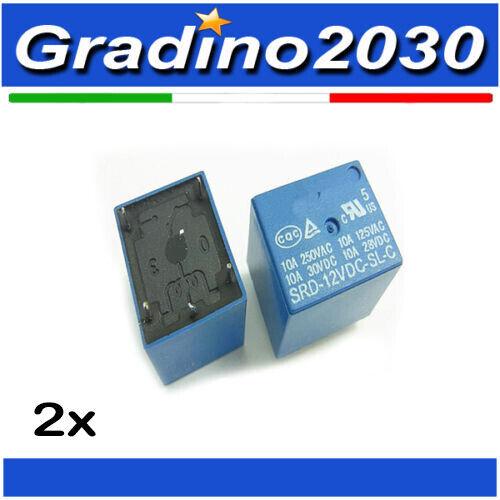 2x Relay 12Vdc 3A da circuito stampato relè 12V 1 scambio