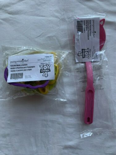 Details about  /PAMPERED CHEF Toy Story 4 Pancake Molds /& Stencils and Hamm Pancake Flipper Set