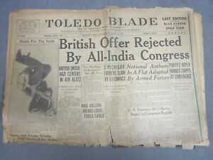 World-War-II-Newspaper-Toledo-Blade-April-2-1942