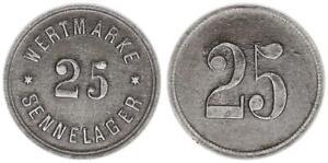 Alemania, Sennelager, Ficha de Valor Para 25 VF XF 56567