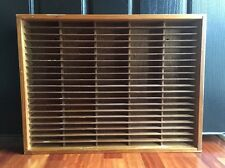 Napa Valley 100 Slot Cassette Tape Holder Storage Wooden Case Box