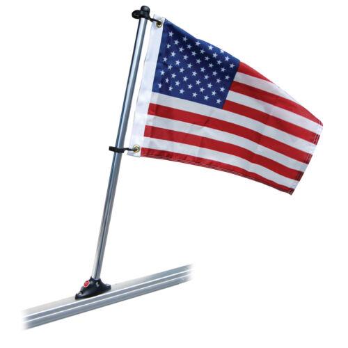 "TAYLOR MADE PONTOON 24/"" FLAG POLE MOUNT /& 12X18 US FLAG"