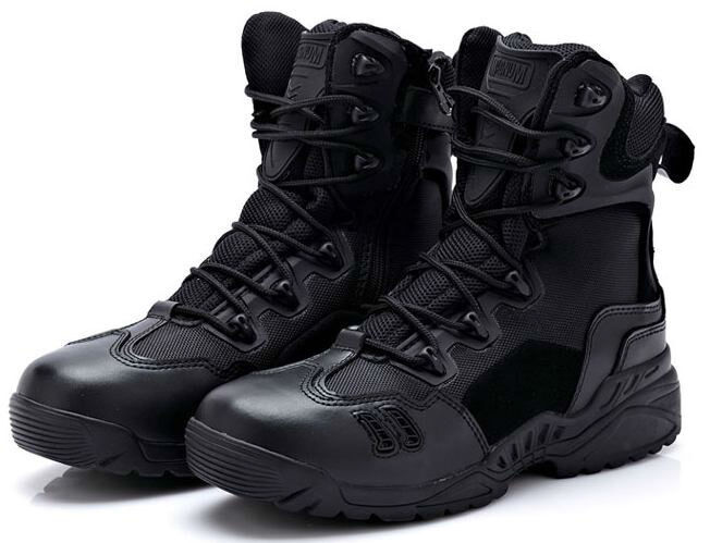 NEW TACTICAL MILITARY BLACK LEATHER COMBAT BOOTS SIZE 6 7 8 8.5 9 9.5 10