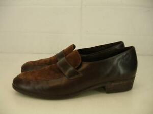 Womens-10-5-N-Munro-American-Mallory-Loafers-Shoes-Brown-Slip-On-Leather-Comfort