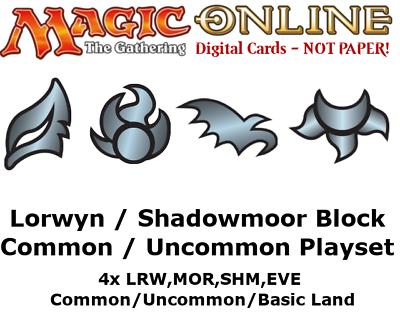 MTGO Magic Online LGN Legions Playset 400 Cards 4x Common//Uncommon