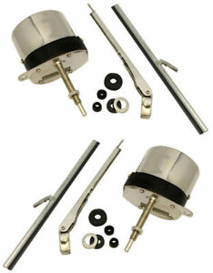 Street Rods Rat Stainless Steel 12 Volt Windshield Wiper Motor Hot