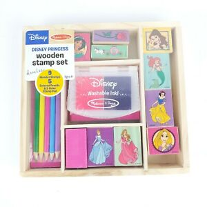 Melissa-amp-Doug-Disney-Princess-Wooden-Stamp-Set-NEW-Sealed
