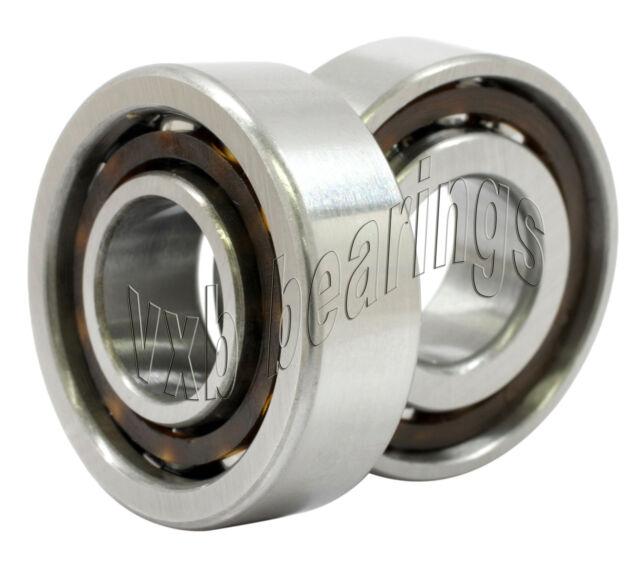 2 Bearing 7205B 25x52x15 Angular Contact