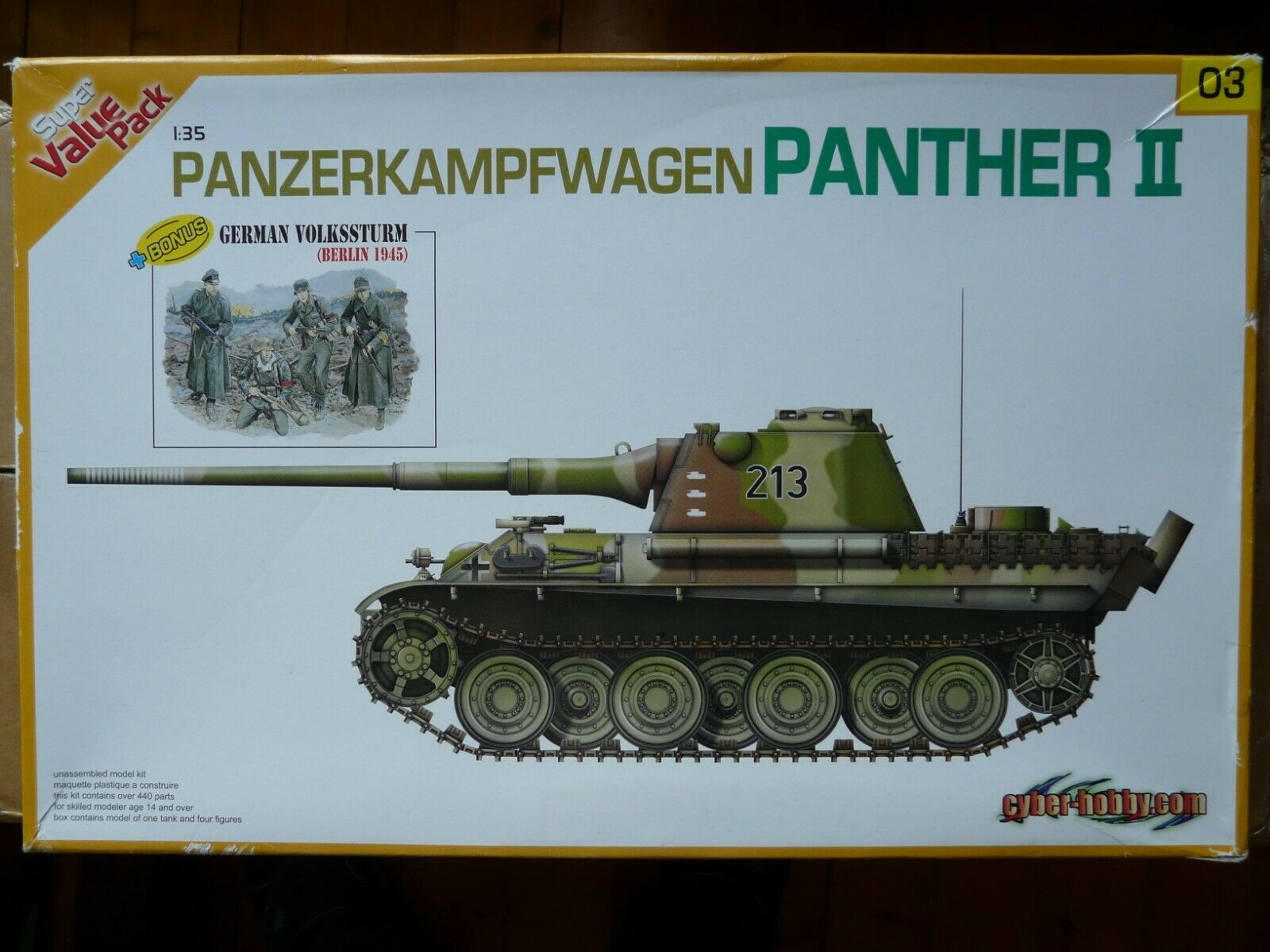 Maquette 1 35 WWII DRAGON Ref 9103 Panther II + Figurines Rare