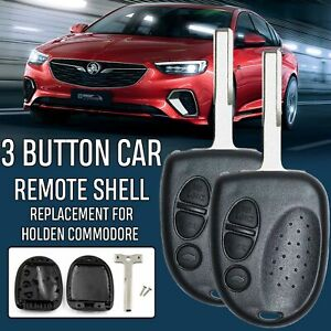 2Pack-Holden-Commodore-3-Button-Car-Remote-Case-Shell-amp-Uncut-Key-VS-VX-VY-VZ-WH